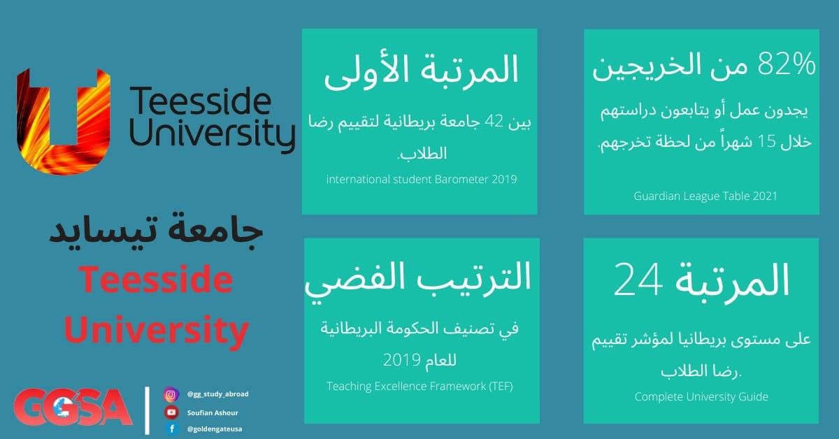 تعرف على جامعة تيسايد Teesside University البريطانية